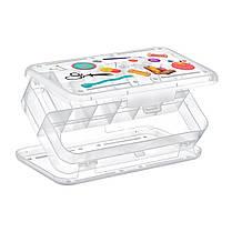 Контейнер универсальный для швейной фурнитуры прозрачный, фото 2