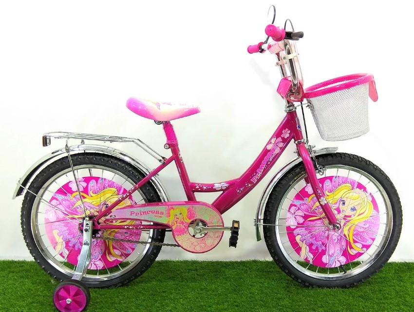 """Дитячий велосипед Принцеса 18"""" рожевий"""