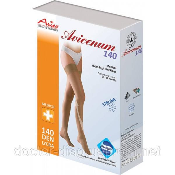 Aries Чулки Avicenum 140 1 кл.к. плотные с резинкой AG (62-71)