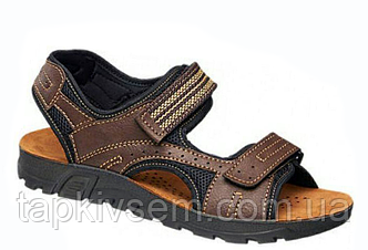 Мужские сандалии Memphis One 1352203 коричневого цвета, стелька кожа