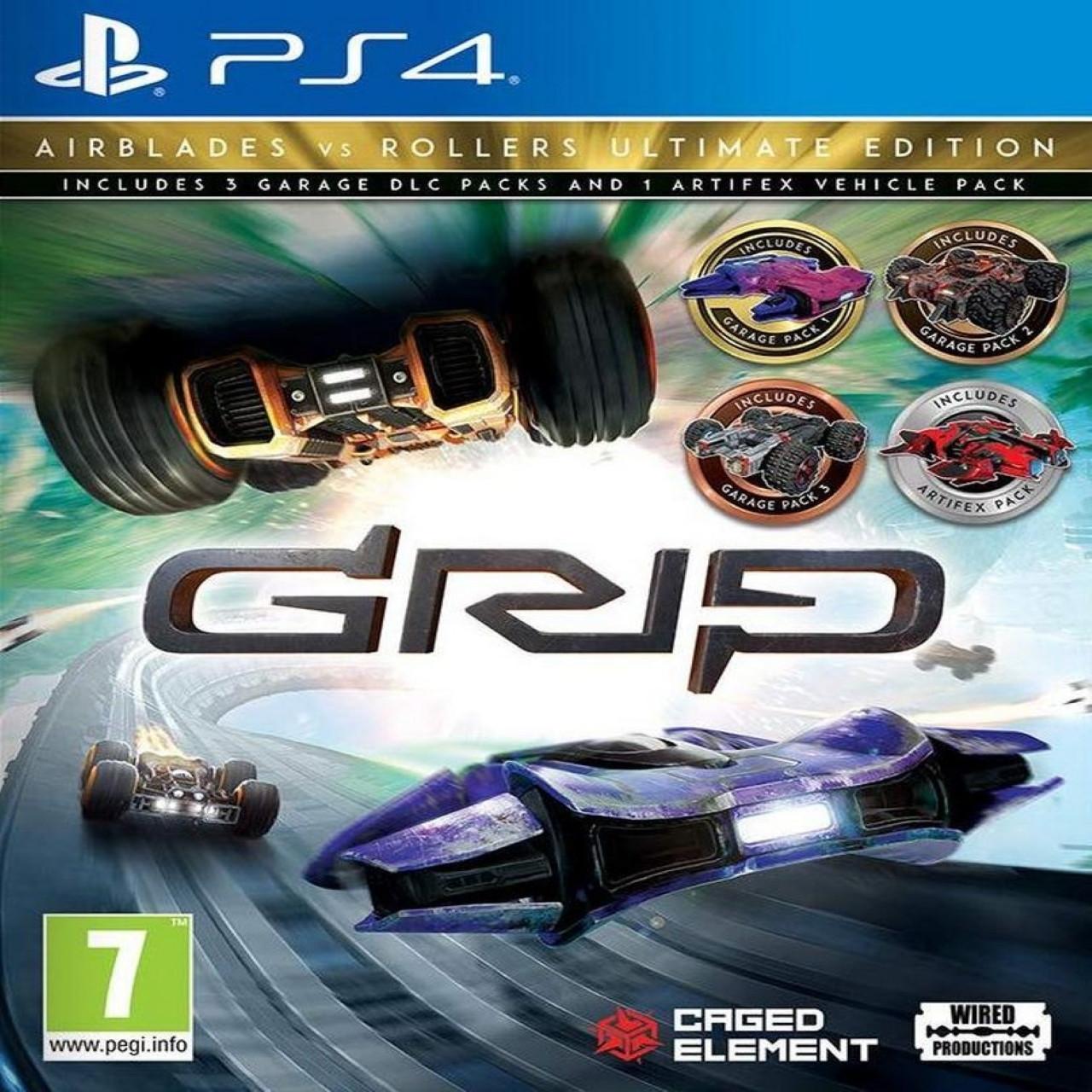 GRIP Combat Racing - Rollers Vs Airblades Ultimate Edition (англійська версія) PS4