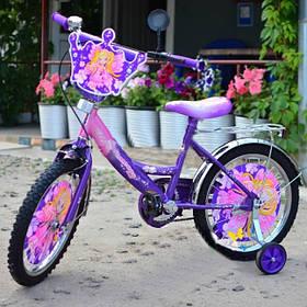 """Дитячий велосипед Принцеса 18"""" фіолетовий"""