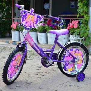 """Детский велосипед Принцесса 18"""" фиолетовый, фото 2"""