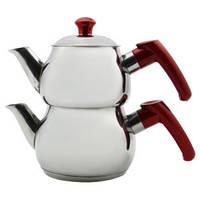 Двухъярусный чайник турецкий Papatyam Midi Boy (чайник 0,55 л + заварник 0,45 л)