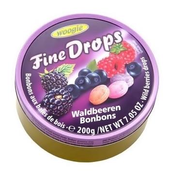 Льодяники з смаком лісових ягод Fine Drops Waldbeeren 200 г.