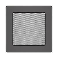 Вентиляційна решітка для каміна SAVEN 17х17 графітова, фото 1