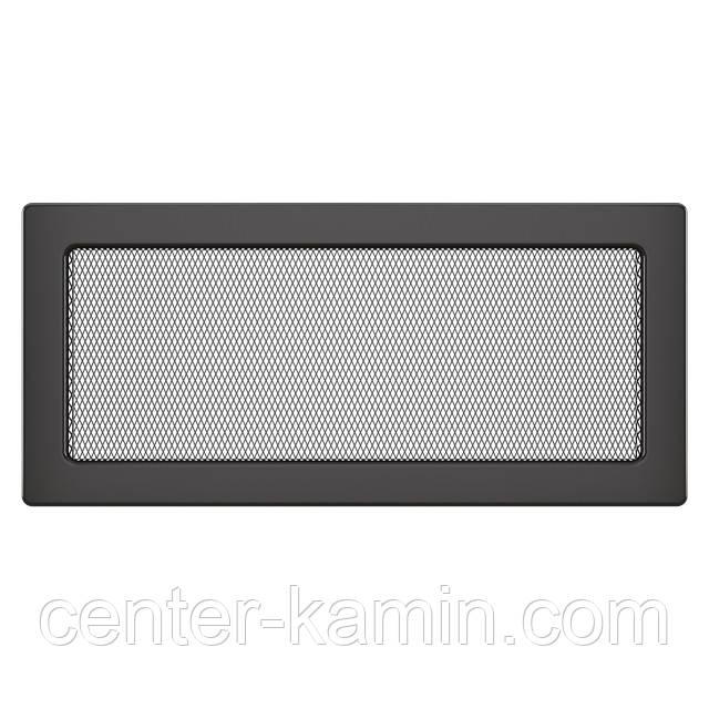 Вентиляционная решетка для камина SAVEN 17х37 графитовая