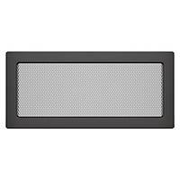 Вентиляционная решетка для камина SAVEN 17х37 графитовая, фото 1