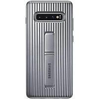 Оригинальный чехол Samsung Protective Standing Cover Silver для Galaxy S10 Plus SM-G975