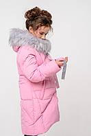 Пуховик зимний для девочки Офелия рост 140, 146, 152.  Nui very  Украина