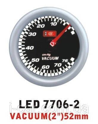 7706-2 LED Разрежение во впускном коллекторе стрелочный диаметр 52мм