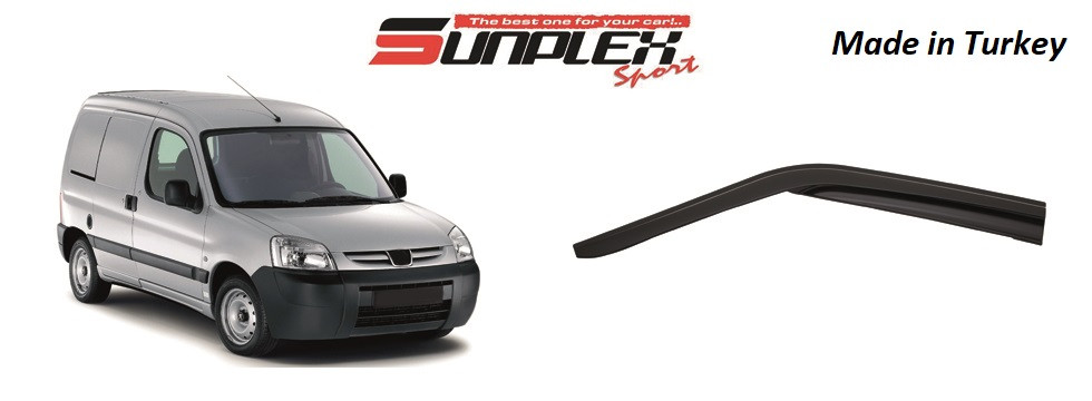 Дефлектор на окна SUNPLEX PEUGEOT PARTNER / CITROEN BERLINGO 2002-2007  SP-S-35