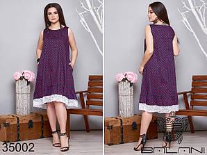 Женственное платье в мелкий горошек размер: 50-52,54-56,58-60