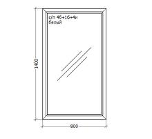 Металлопластиковое ПВХ окно, 800x1400, GoodWin VEKA Euroline 60, глухое