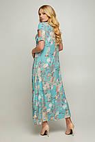 Длинное летнее женское платье в цветочном принте 50-56  размер, фото 3