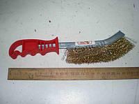 Щетка по металлу металлическая  с красной ручкой. BT-0001