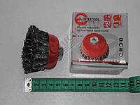 Щетка торцевая из плетеной  проволоки (65мм) М14). ВТ-9050
