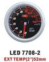 7708 - 2 LED Температура выхлопных газов стрелочный диам.52мм