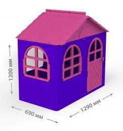 Домик со шторками Doloni маленький фиолетовый (02550/10)