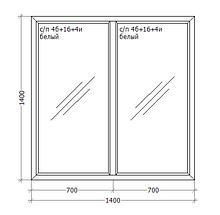 Металлопластиковое ПВХ окно, 1400x1400, GoodWin VEKA Euroline 60, глухое