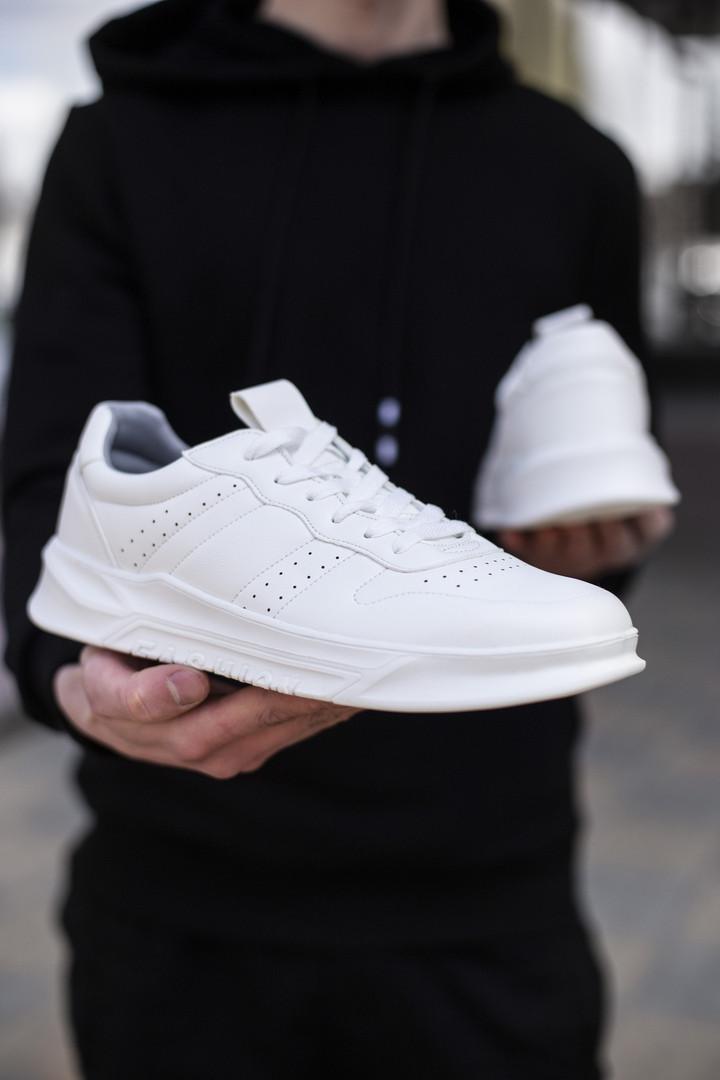 Кросівки чоловічі білі Еко-шкіра