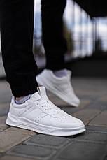 Кросівки чоловічі білі Еко-шкіра, фото 2