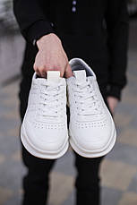 Кросівки чоловічі білі Еко-шкіра, фото 3