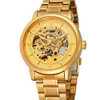 Winner 8173 Gold оригинальные наручные часы с годовой гарантией на механизм
