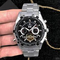 Forsining 340 Silver-Black оригинальные наручные часы с годовой гарантией на механизм