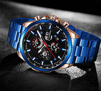 Forsining 1137 Blue-Cuprum-Black оригинальные наручные часы с годовой гарантией на механизм
