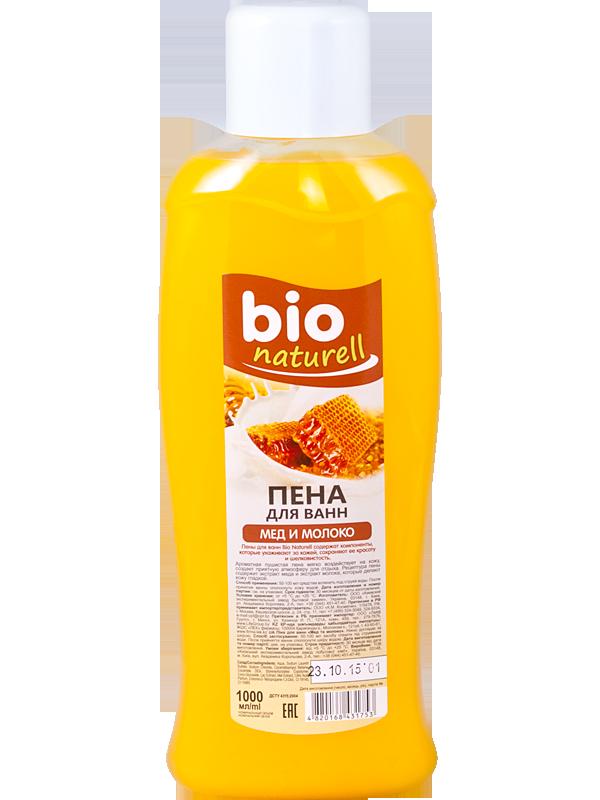 """Пена для ванн """"Мед и молоко"""" TM """"BIO Naturell"""" 1000мл"""