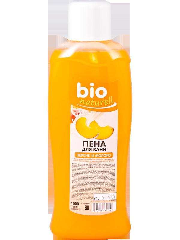 """Пена для ванн """"Персик и молоко"""" TM """"BIO Naturell"""" 1000мл"""
