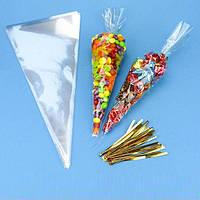Пакет трикутний 15*25 см (уп 100шт) Пакет треугольный 15*25 см