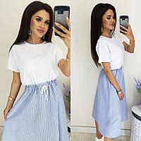 Платье женское летнее 3038 (42/46 универсал) (цвета: голубой, беж) СП, фото 1