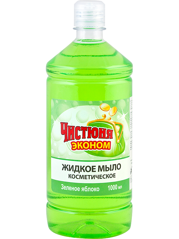 """Жидкое мыло косметическое """"Зеленое Яблоко"""" ТМ """"Чистюня"""" Эконом 1л"""