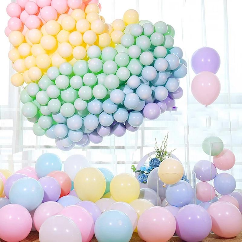 """Латексные воздушные шарики круглые макарун ассорти пастель  12"""" (30 см) 10 шт."""