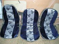 Чехлы сидений кабины (комплект 3шт. поролон).