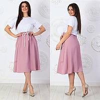 Платье женское 7018 большой размер (48/52 универсал) (цвета: пудра, минт, хаки, кофе) СП, фото 1