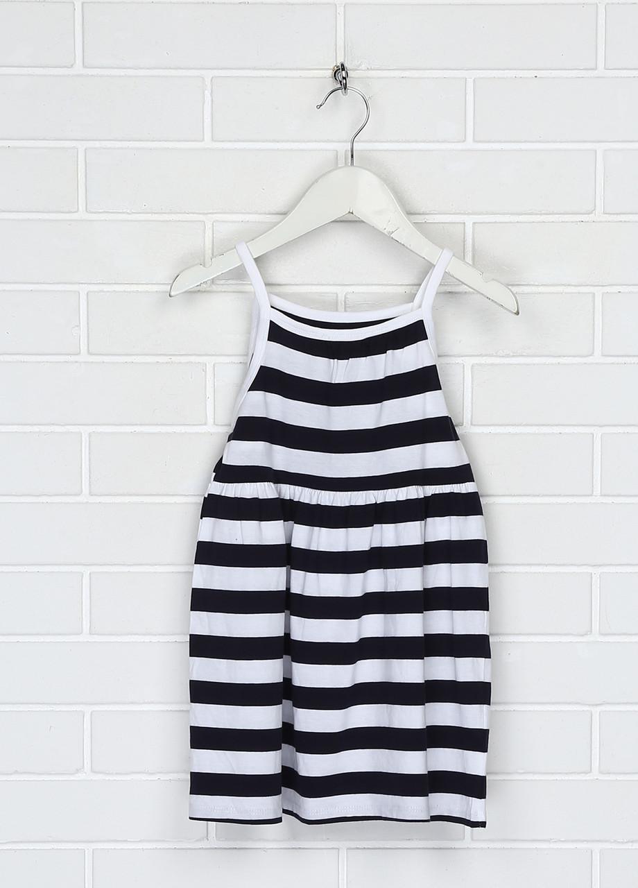 Черно-белое повседневное платье H&M в полоску