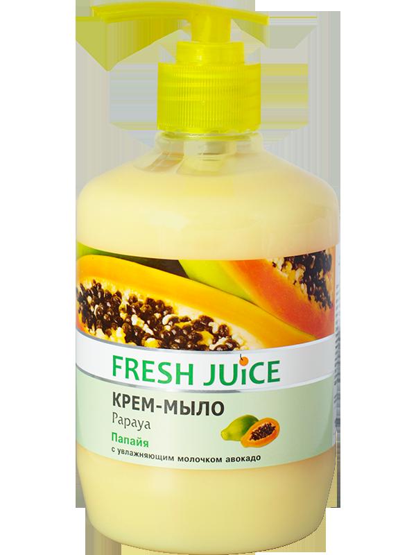 "Крем-мыло ""Папайя""  ТМ "" Fresh juice"", 460 мл."