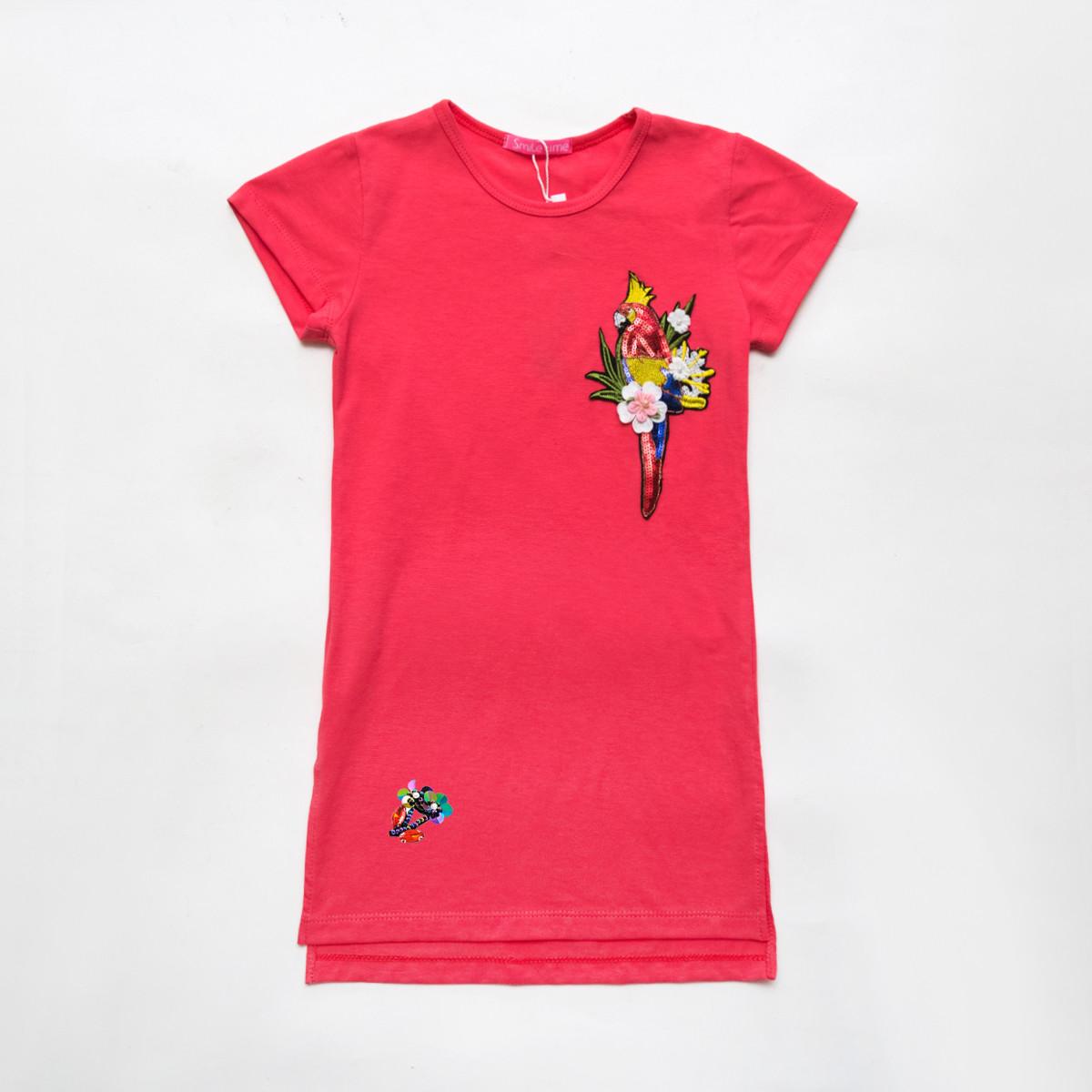 Платье летнее р.122,128.140.146,152 для девочки SmileTime Summer, коралл