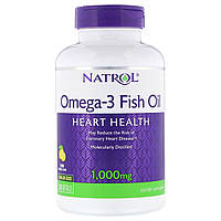 Омега-3 Рыбий Жир 1000 мг, Omega-3 Fish Oil, Natrol, 150 желатиновых капсул