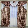 Комплект штор з ламбрекеном Сандра з жаккарду з люрексом (для спальні та вітальні), фото 4