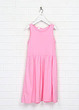 Розовое повседневное платье H&M однотонное
