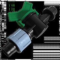 Кран старт-коннектор для капельного полива BRADAS Ø20мм с резинкой Ø16мм