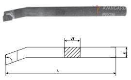 Резец расточной (тип1) для обработки глухих отверстий (специальный ИР197) (25х16х200) ВК8