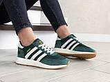 Женские (подростковые) кроссовки Adidas Iniki,зеленые с белым, фото 4