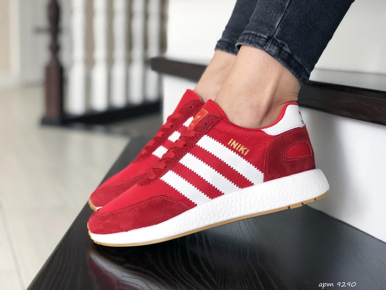 Женские (подростковые) кроссовки Adidas Iniki,красные