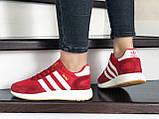 Женские (подростковые) кроссовки Adidas Iniki,красные, фото 3