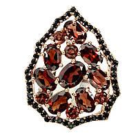 Крупное яркое Кольцо с натуральными Гранатами, фото 1